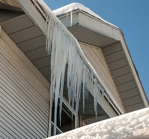 Icicles Hanging From Home