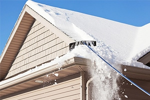 Sloped Roof Snow Removal